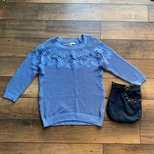 LC Lauren Conrad knot sweater in light blue